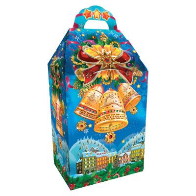 Детский новогодний подарок в упаковке из микрогофрокартона Бубенцы 1000 грамм в комплектации эконом в Саратове