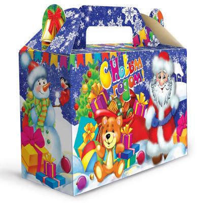Детский новогодний подарок в картонной упаковке С новым годом 500 грамм в стандартной комплектации в Саратове