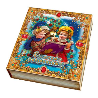 Детский новогодний подарок в картонной упаковке С зимними праздниками 500 грамм в Саратове