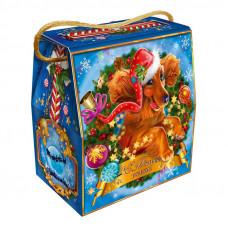 Детский новогодний подарок в твердой  упаковке из микрогофрокартона Символ года 1100 грамм в стандартной комплектации в Саратове