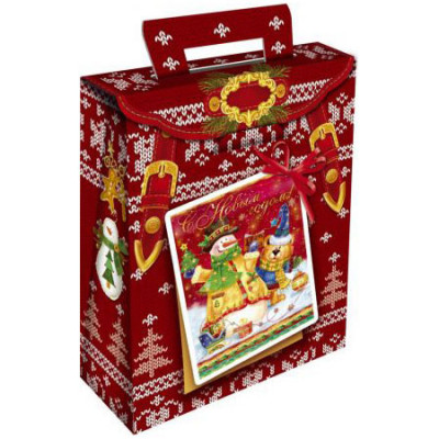 "Сладкий новогодний подарок ""С зимними праздниками"" 600 грамм в Саратове"