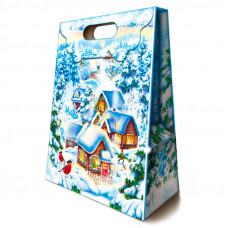 Картонная упаковка для Новогодних подарков Сказочный дом в Саратове