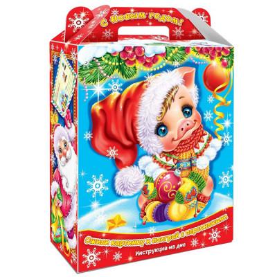 """Сладкий детский новогодний подарок """"Сюрприз с анимацией"""" 900 грамм в Саратове"""