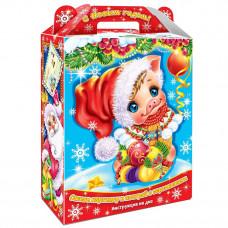 Картонная упаковка для Новогодних подарков Сюрприз с анимацией в Саратове