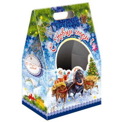 Картонная упаковка для Новогодних подарков Подарок с окном в Саратове