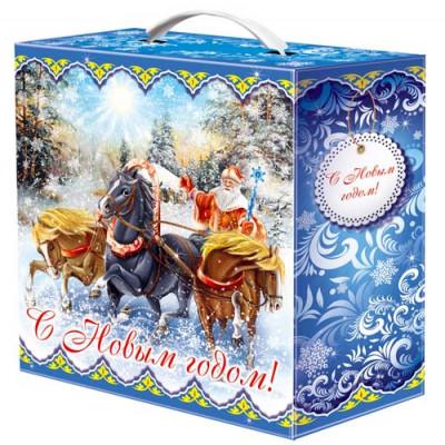 Картонная упаковка для Новогодних подарков Мороз и солнце в Саратове