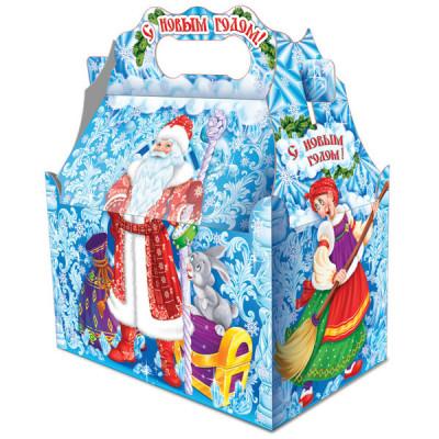 Картонная упаковка для Новогодних подарков Новогодние узоры в Саратове