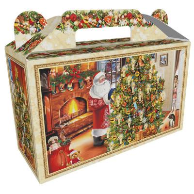 Картонная упаковка для Новогодних подарков Праздник малый в Саратове
