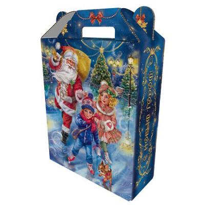 Картонная упаковка для Новогодних подарков Зимние забавы в Саратове