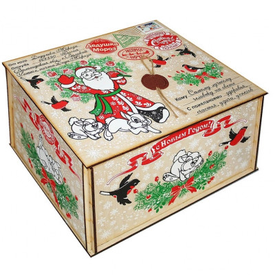Посылка от Деда Мороза Снегири 1700 грамм премиум в Саратове
