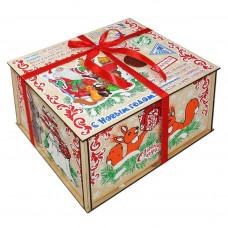 Посылка от Деда Мороза Стикер 1300 грамм элит