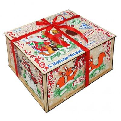 Посылка от Деда Мороза Стикер 1300 грамм премиум в Саратове