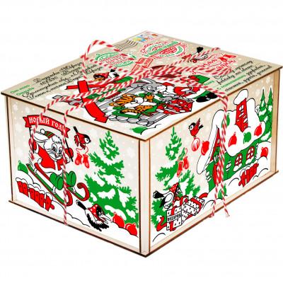 Посылка от Деда Мороза Символ года 1300 грамм премиум в Саратове