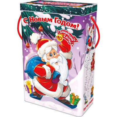 Короб с Дедом Морозом 1000 грамм стандарт в Саратове