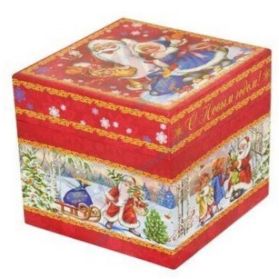 Куб Дед Мороз и дети 800 грамм элит в Саратове
