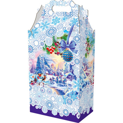 Подарок большой Новогодние узоры 2500 грамм премиум в Саратове