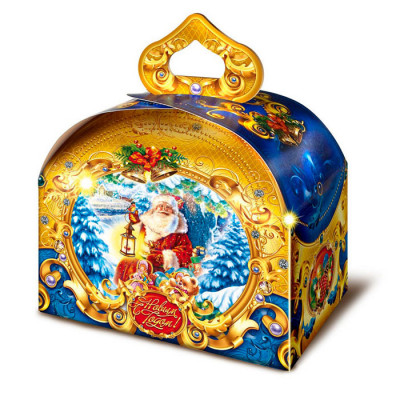 Детский новогодний подарок Дед Мороз с фонариком 900 грамм в комплектации стандарт в Саратове