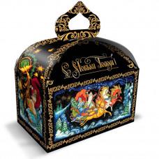 Детский новогодний подарок Тройка 900 грамм в картонной упаковке в Саратове