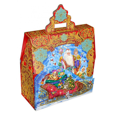 Детский новогодний подарок Чудо с золотым тиснением в Саратове