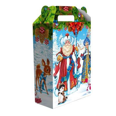 Детский новогодний подарок Хоровод 900 грамм в твердой упаковке из микрогофрокартона в стандартной комплектации в Саратове