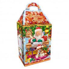 Детский новогодний подарок в твердой  упаковке из микрогофрокартона Исполнение желаний 1100 грамм в комплектации стандарт в Саратове