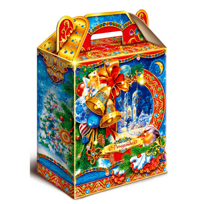 Картонная упаковка для новогодних подарков Колокольчики в Саратове