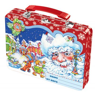 """Жестяная упаковка для новогодних подарков """"Волшебный чемоданчик"""" в Саратове"""