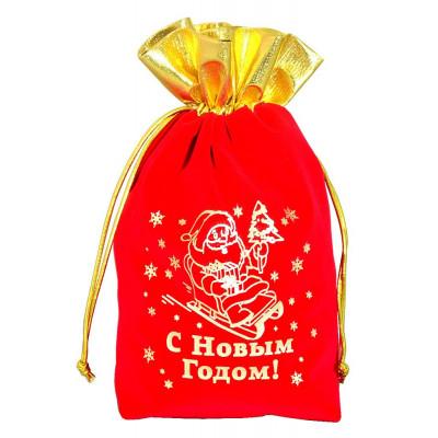 Подарочный мешок дед мороз на санях в Саратове