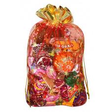 Подарочный мешок из органзы красный в Саратове