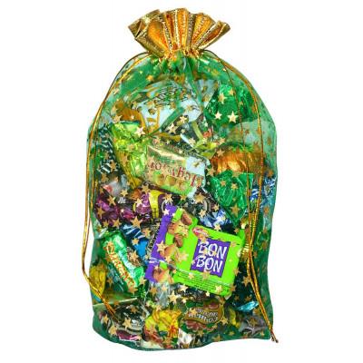 Подарочный мешок из органзы зеленый в Саратове