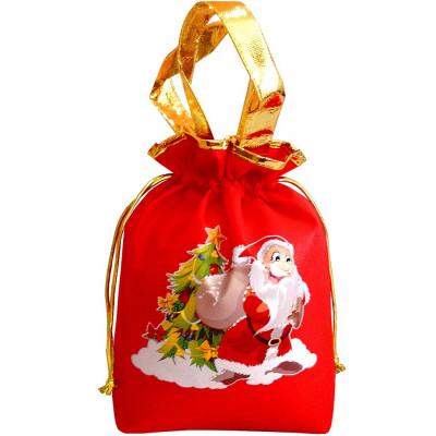 Подарочный мешок новогодний красный в Саратове