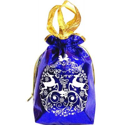 Новогодний подарочный мешок 3d синий в Саратове