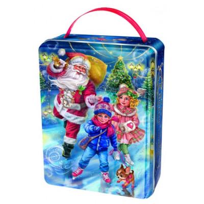 Детский новогодний подарок в жестяной упаковке Каток 900 грамм в элитной комплектации в Саратове