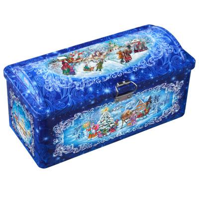 Сладкий детский новогодний подарок Новогодние узоры 1200 грамм в Саратове