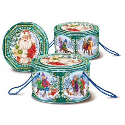 Сладкий детский новогодний подарок Шкатулка 600 грамм в Саратове