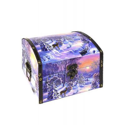 Шкатулка для подарков на новый год сундучок на опушке в Саратове