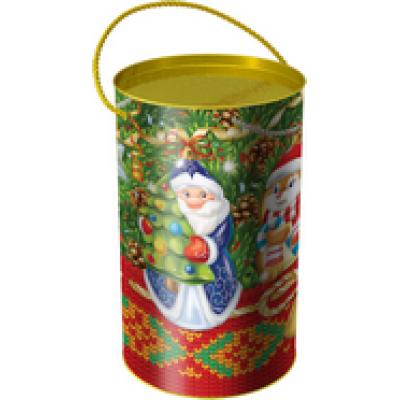 Детский новогодний подарок в тубе  Дед Мороз 900 грамм эконом в Саратове