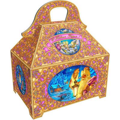 Картонная упаковка для новогодних подарков Ларец блеск в Саратове